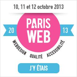 ParisWeb 2011, 2013